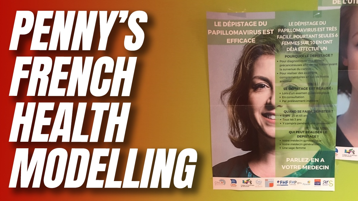 Penny Mordaunt is Poster Girl Promoting STI Check Ups in France
