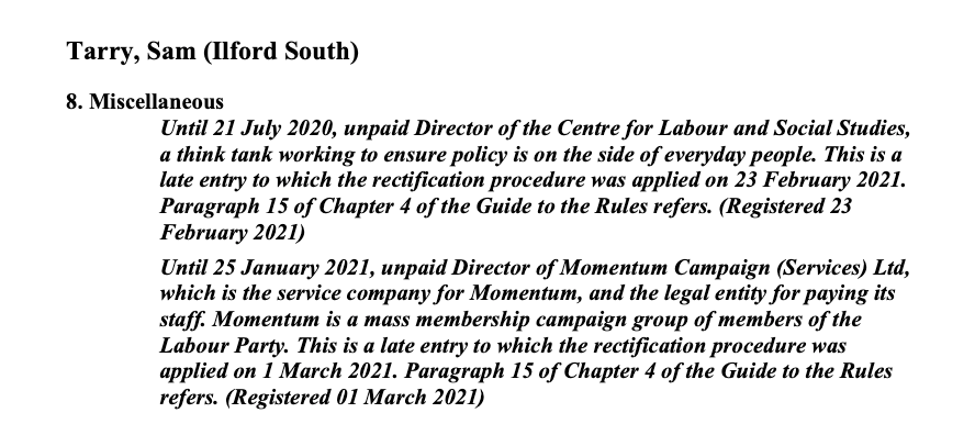 Corbynista MP Broke Commons Rules Failing to Declare Momentum Directorship