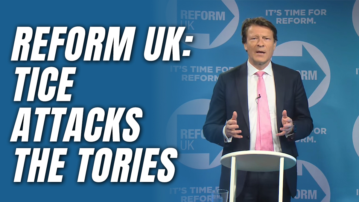 Tice: Tory Party Are Now 'the Con-Socialists'