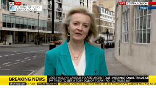 Truss Refuses to Confirm Whether She's Spoken to Boris About Downing Street Refurbs