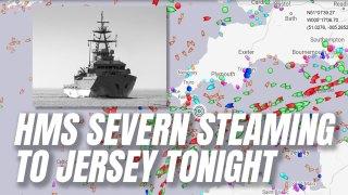 HMS Severn En Route to Jersey