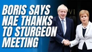 Boris's Not-Quite 'Sturgeon Snub'
