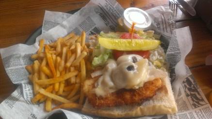Killer Hogfish Sandwich at Hogfish Bar & Grill