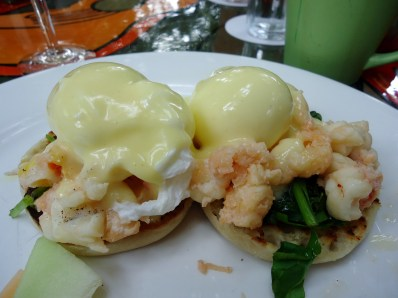 Lobster Benedict at Blue Heaven