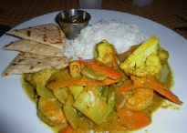 West Indian shrimp curry at Rackams