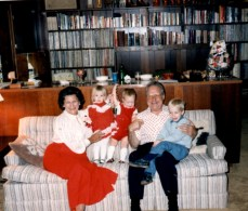 Christmas Eve 1985: Kenny (center) and his Warren cousins with Gamma and Papa Vitek