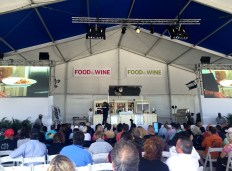 Andrew Zimmern at the Kitchen Aid Culinary Demo Stage