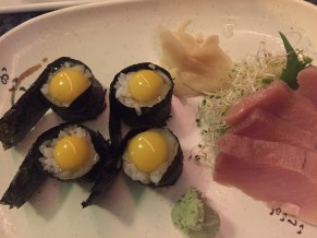Quail egg sushi at Origami Japanese Restaurant - 1075 Duval Street, Key West