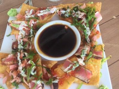 Blackened tuna nachos at Lazy Days South - 725 11th Street Ocean, Marathon - lazydayssouth.com