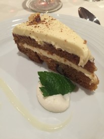 Carrot cake at Main Dining Room