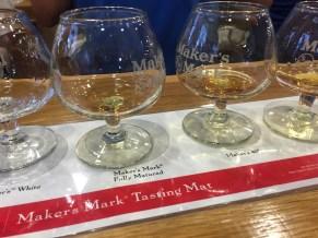 Maker's Mark tasting: Maker's White, Maker's Mark Fully Matured, Maker's 46 and Maker's Mark Cask Strength