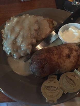 Country fried steak at the Old Owl Tavern at Beaumont Inn