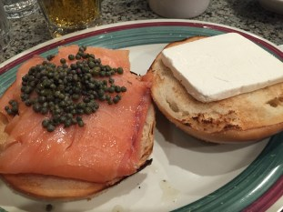 Bagel Lox and Cream Cheese at Astro Restaurant