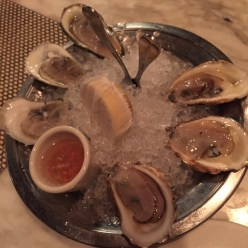 Oysters on the half shell at Johnny's Half Shell