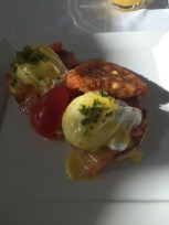 Smoked Salmon Benedict at Il Cielo