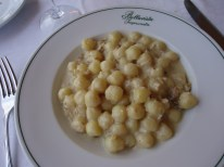 Gnocchi with walnut sauce at Bellavista Ristorante in Impruneta