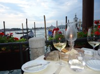 Dinner at Grand Canal Restaurant in Venice
