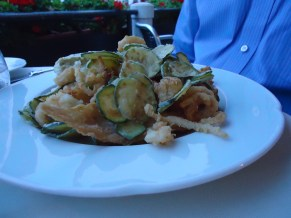 Fried seafood platter at Grand Canal Restaurant in Venice