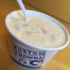 Clam chowder from Boston Chowda Co at Quincy Market