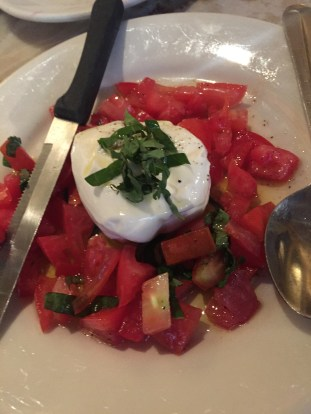 Burrata special at Panza