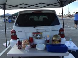 Tailgate setup
