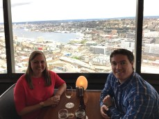 Lunch at SkyCity at the Needle in Seattle, WA