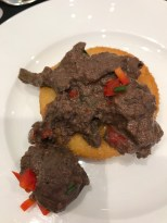 Sautéed Chicken Livers and Cornbread from Tren-ness Woods-Black, Sylvia's Restaurant