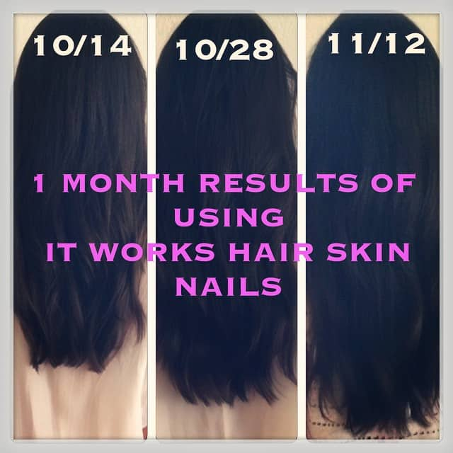 ItWorks Hair Skin Nails Before and After Review