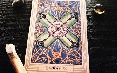4 of Swords Tarot card meaning