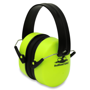Bullhead Safety Hearing Protection - Premium High-Visibility Foldable Earmuffs