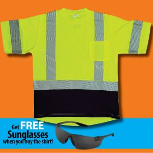 2003B Wickmaster split stripe ANSI Class 3 safety t-shirt