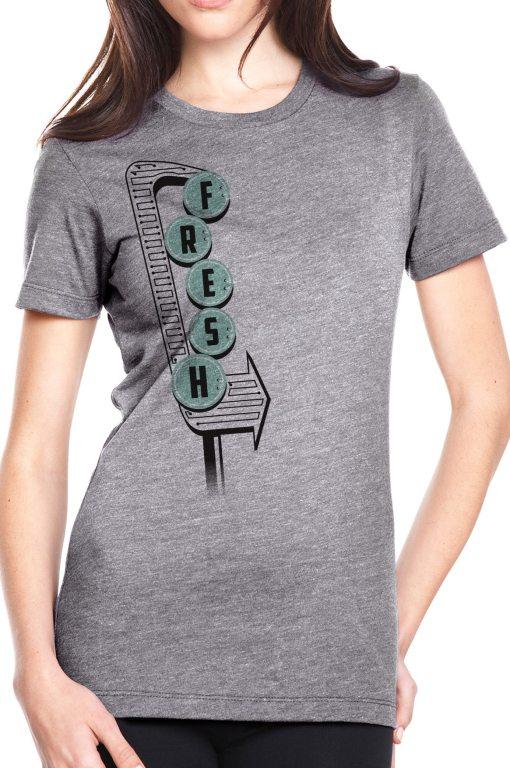 Womens Fresh tshirt, woman's vintage graphic tees