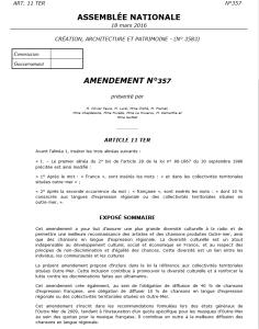 Loi Création - Amendements