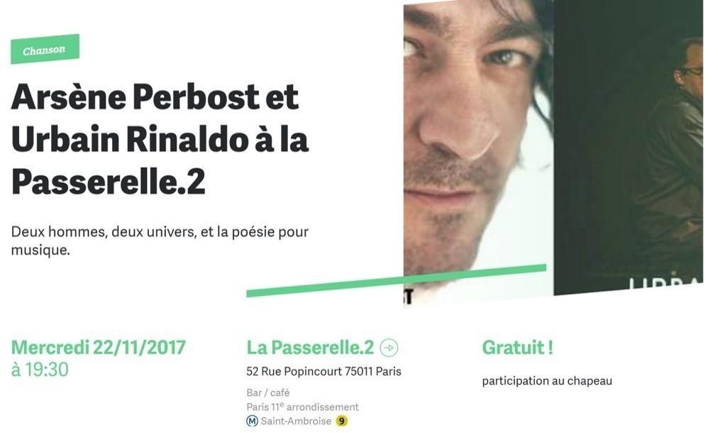Concert – Urbain Rinaldo et Arsène Perbost