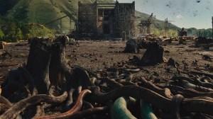 Arken i baggrunden mens alverdens slanger og fugle strømmer til. Foto: UIP, 2014