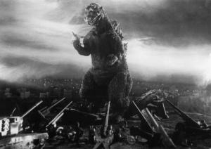 Den japanske hær er chanceløs over for Godzilla.