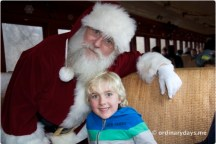 Santa on the train
