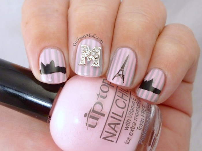 French affair with nail candi nail art 3
