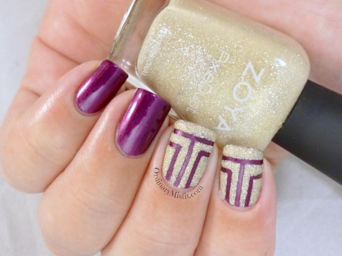 Geometric texture nail art
