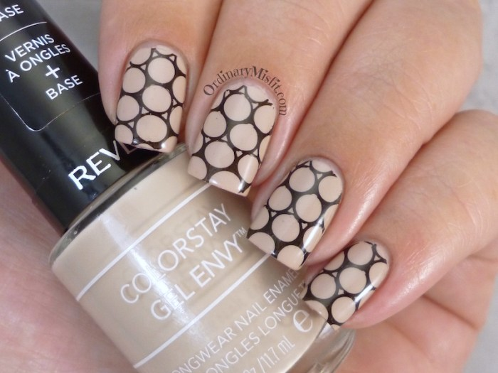 Nude with black stamping