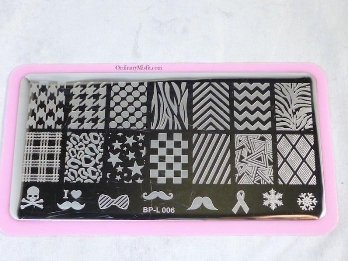 Born Pretty Store stamping plate L006