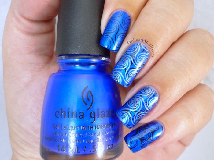 Blue and swirly plate BP-L 003 review 2