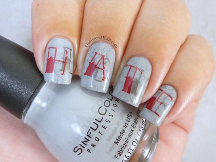 Nail Anarchy February tainted love nail art alternate