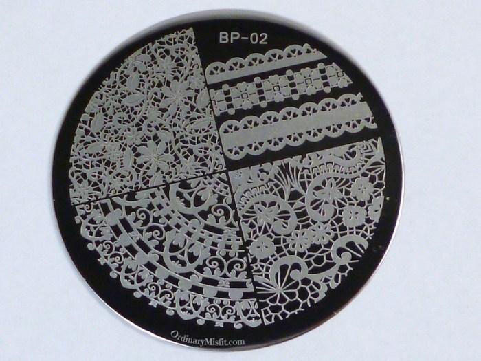 Born Pretty Store plate BP-02 2