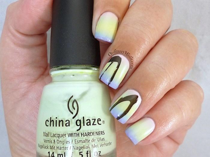 Easter Gradient nail art 3