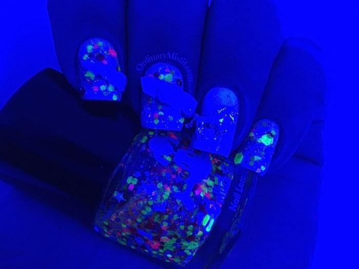 #PPSANailChallenge Unicorn nail art blacklight