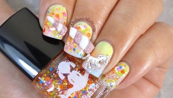 Unicorn power nail art ordinarymisfit ppsanailchallenge week 1 unicorn prinsesfo Images