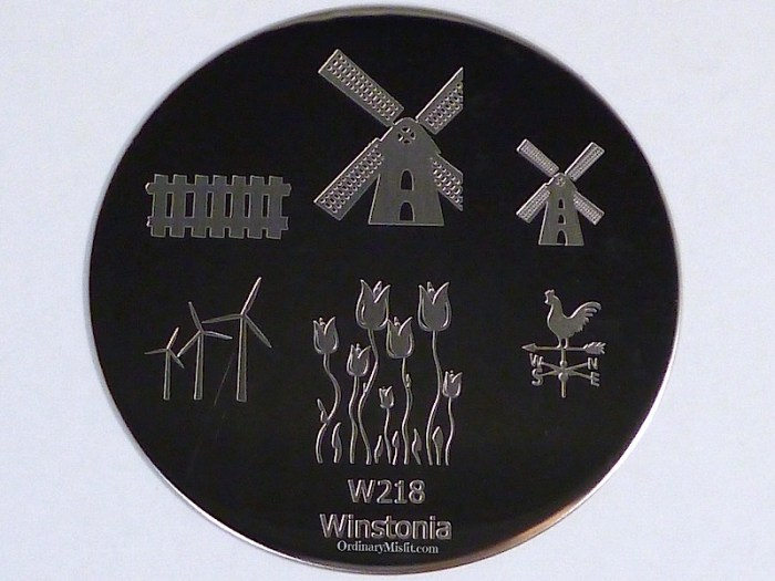 Winstonia stamping plate W218