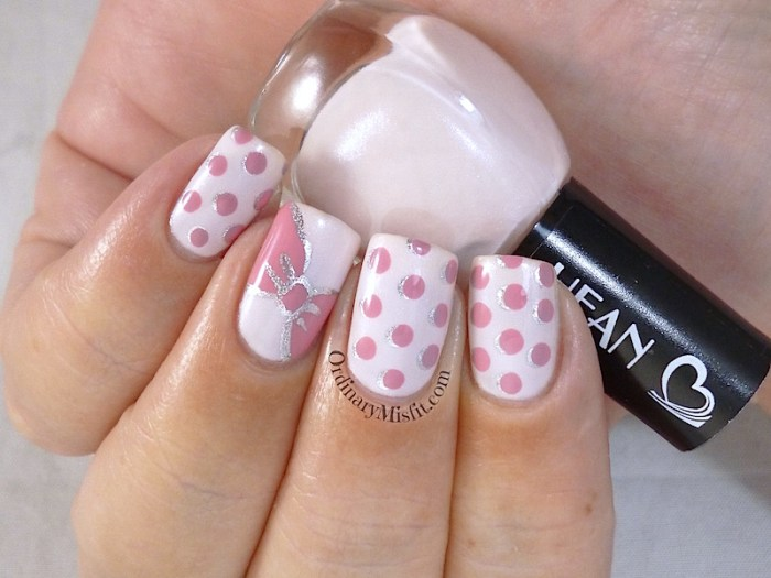 Hean I love Hean collection #404 with nail art 2
