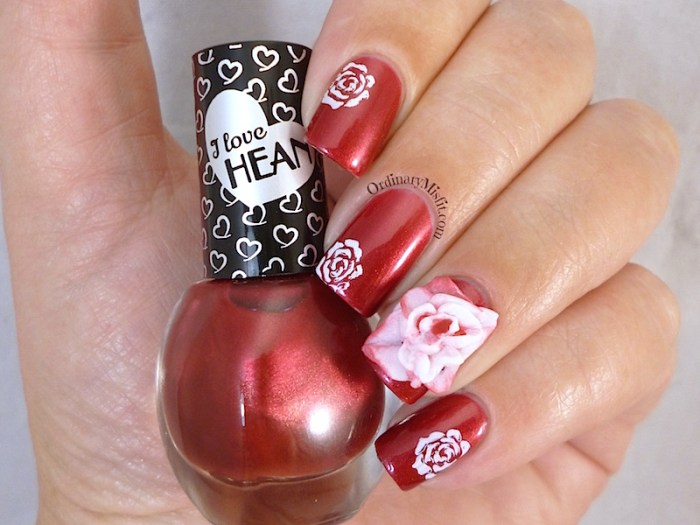 Hean I love Hean collection #424 with nail art